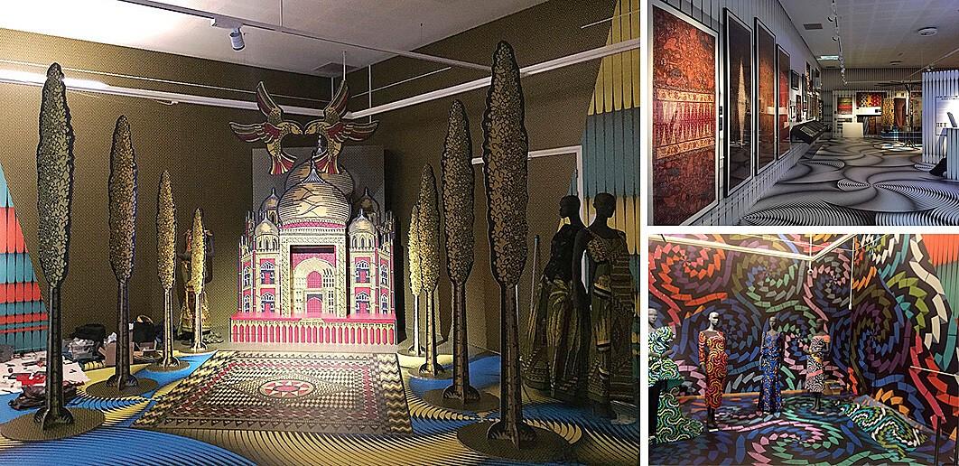 Expositie Vlisco - wandbekleding - vloervinyl - expositie