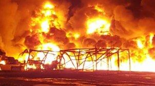 Grote brand bij Koster Keunen