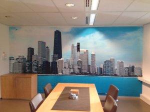 Interieur - print op behang - wanddecoratie - grootformaat print - stickerbehang