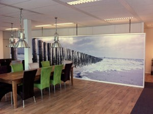 Interieur - print op behang - wanddecoratie - stickerbehang