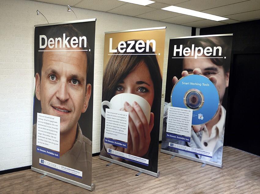 beurs en presentatiesystemen - rolbanner - roll-up banner - standbouw