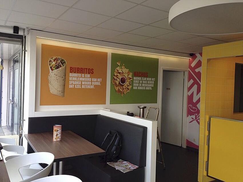 retail visuals - interieur - print op vliesbehang - winkeldecoratie