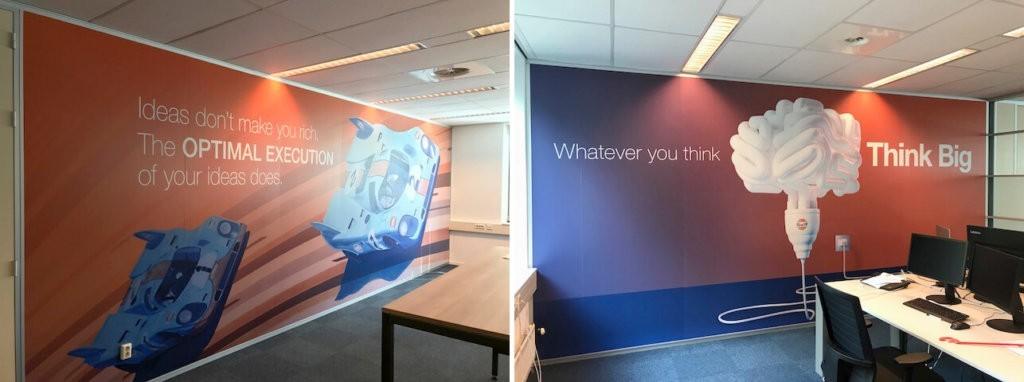 sticker wand kantoor - interieurdecoratie