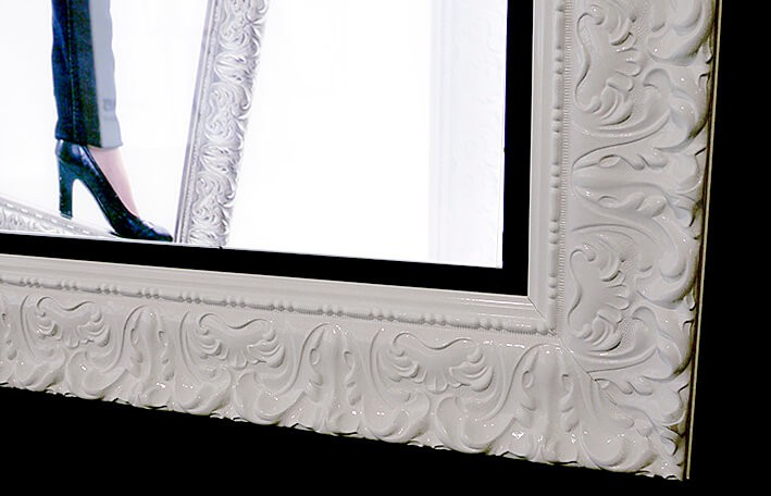 lichtbak - led frame barok- verlichte reclame - print op dia - led verlichting
