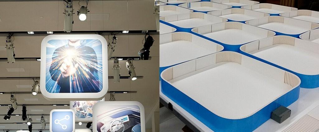 foam - print op foam - pos materialen - lichtbak