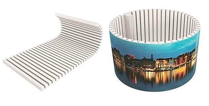 V-Cut foam lampenkap met print- pos materialen - print op foam