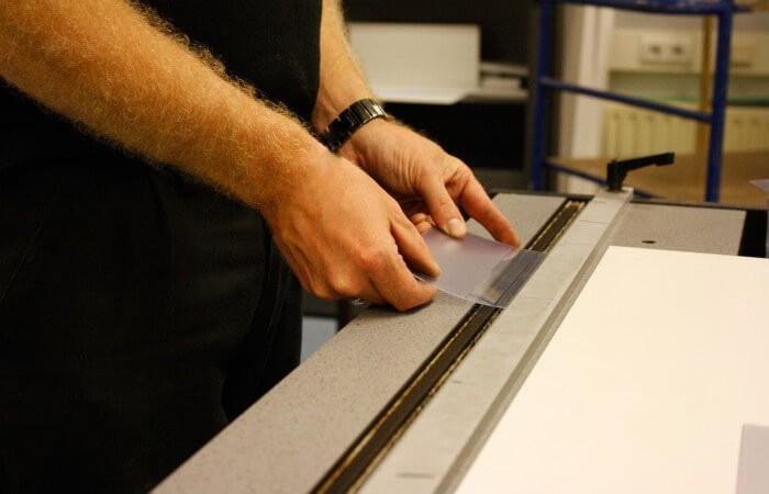 Buigen plaatmateriaal - display - ombuigen